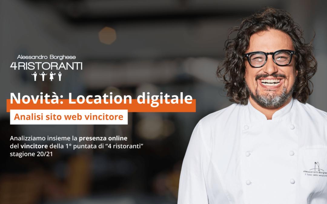 """""""4 ristoranti"""" – Analisi sito web ristorante vincitore"""